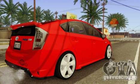 Toyota Prius Tunable для GTA San Andreas вид изнутри