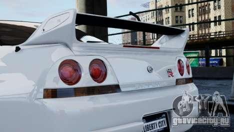Nissan Skyline R33 1995 для GTA 4 вид справа