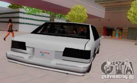 Premier Coupe для GTA San Andreas вид сзади слева