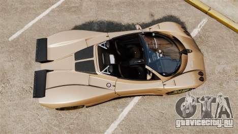 Pagani Zonda C12S Roadster 2001 v1.1 для GTA 4 вид справа