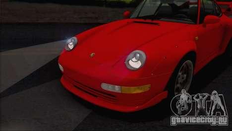 Porsche 911 GT2 (993) 1995 V1.0 EU Plate для GTA San Andreas вид снизу
