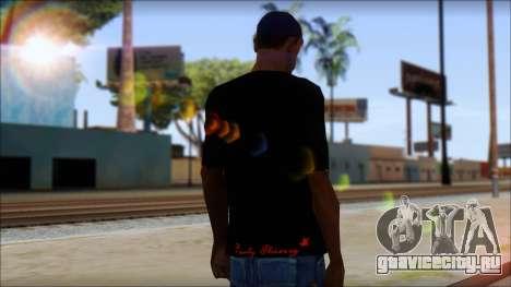 Ed Hardy Lion T-Shirt для GTA San Andreas второй скриншот