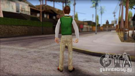 Donald from Bully Scholarship Edition для GTA San Andreas третий скриншот