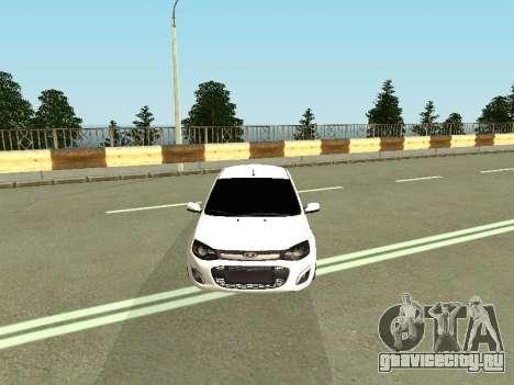 Lada Kalina 2 для GTA San Andreas вид сзади