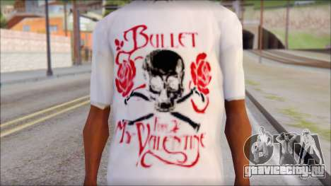 Bullet For My Valentine White Fan T-Shirt для GTA San Andreas третий скриншот