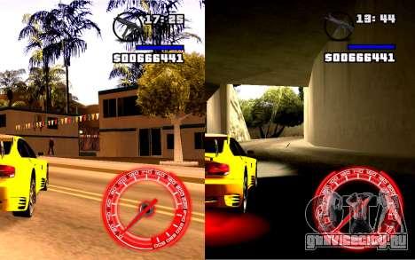 Спидометр Concept StyleV16x9 для GTA San Andreas