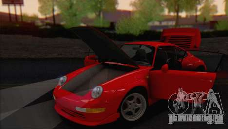 Porsche 911 GT2 (993) 1995 V1.0 EU Plate для GTA San Andreas вид изнутри