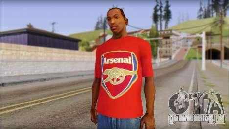 Arsenal T-Shirt для GTA San Andreas