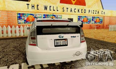 Toyota Prius Tunable для GTA San Andreas вид сверху
