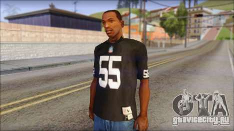Oakland Raiders 55 McClain Black T-Shirt для GTA San Andreas