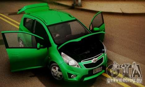 Chevrolet Spark 2011 для GTA San Andreas вид справа