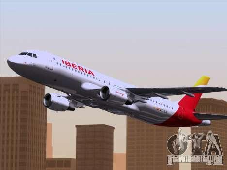 Airbus A320-214 Iberia для GTA San Andreas вид сбоку
