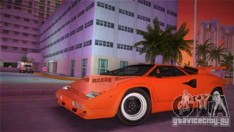 Lamborghini Countach LP5000 QV TT Custom для GTA Vice City вид сзади слева