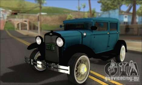 Ford A 1930 для GTA San Andreas
