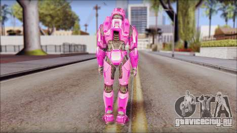 Masterchief Pink from Halo для GTA San Andreas третий скриншот