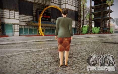 Пожилая женщина для GTA San Andreas второй скриншот