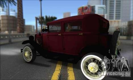 Ford A 1930 для GTA San Andreas вид сзади слева