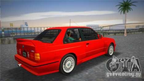 BMW M3 (E30) 1987 для GTA Vice City вид слева