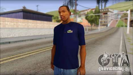 Blue Izod Lacoste Polo Shirt для GTA San Andreas