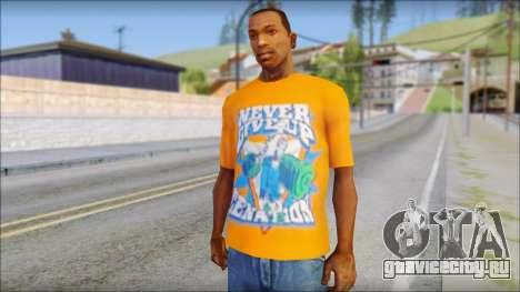 John Cena Orange T-Shirt для GTA San Andreas