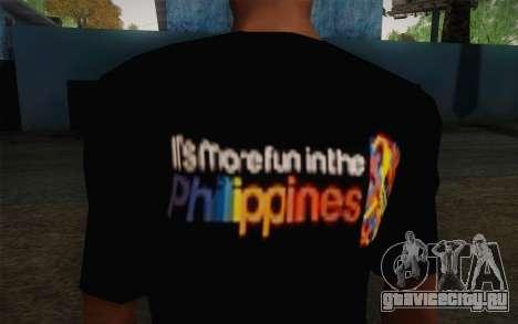 Its More Fun In Philippine T-Shirt для GTA San Andreas третий скриншот