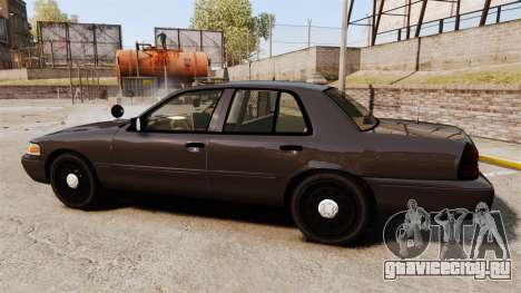 Ford Crown Victoria Sheriff [ELS] Unmarked для GTA 4 вид слева
