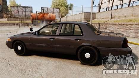 Ford Crown Victoria Sheriff [ELS] Unmarked для GTA 4 вид слева