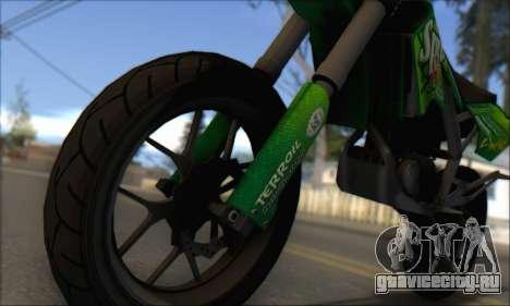 Sanchez from GTA V - Supermoto для GTA San Andreas вид сзади слева