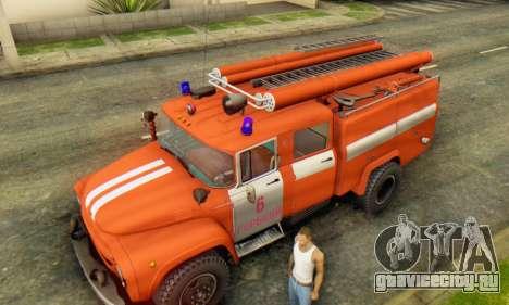 ЗиЛ 130 АЦ-40 для GTA San Andreas вид сзади