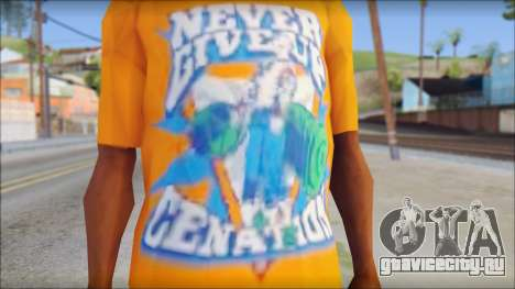 John Cena Orange T-Shirt для GTA San Andreas третий скриншот