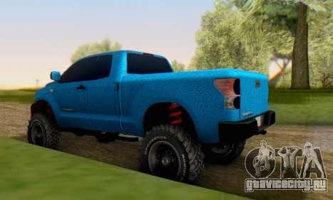 Toyota Tundra OFF Road Tuning Blue Star для GTA San Andreas вид сзади слева