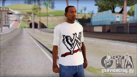 WWE Logo T-Shirt mod v1 для GTA San Andreas
