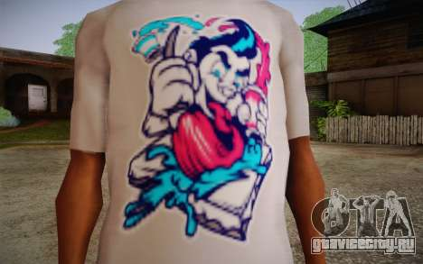 Nick Automatic T-Shirt для GTA San Andreas третий скриншот