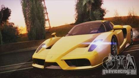 Ferrari Enzo 2002 для GTA San Andreas вид изнутри