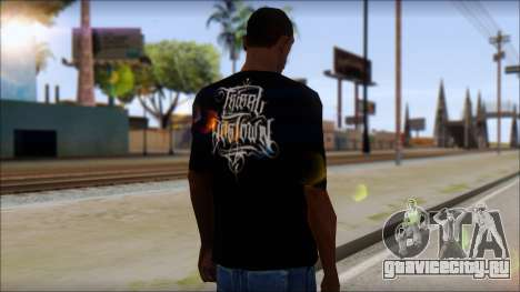 Tribal DOG Town T-Shirt Black для GTA San Andreas второй скриншот