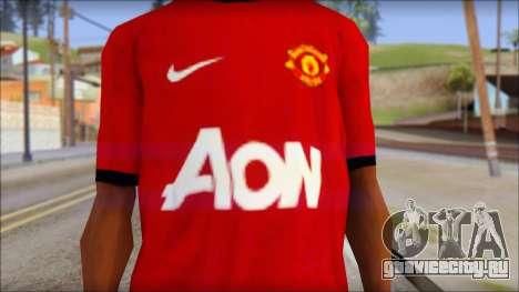 Manchester United 2013 T-Shirt для GTA San Andreas третий скриншот