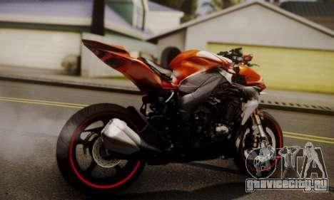 Kawasaki Z1000 2014 для GTA San Andreas вид слева