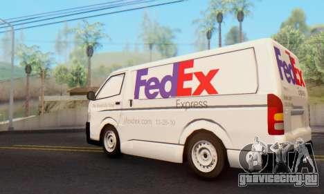 Toyota Hiace FedEx Cargo Van 2006 для GTA San Andreas вид слева