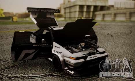 Toyota Corolla AE86 SHIFT2 для GTA San Andreas