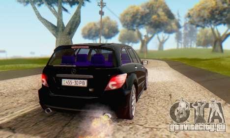Mercedes-Benz R350 для GTA San Andreas вид снизу