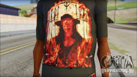 Undertaker T-Shirt для GTA San Andreas третий скриншот