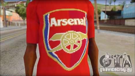 Arsenal T-Shirt для GTA San Andreas третий скриншот
