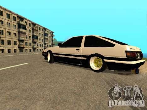Toyota Corolla AE86 Trueno JDM для GTA San Andreas вид снизу