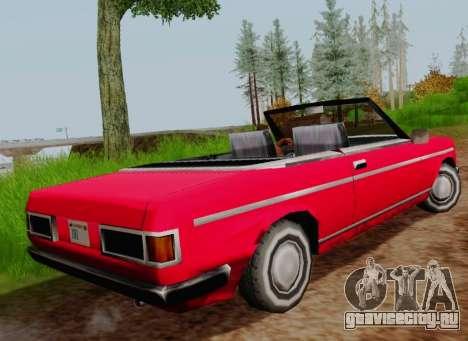 Admiral Cabriolet v2.0 для GTA San Andreas вид сзади слева