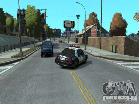 Ford Crown Victoria Police NYPD 2014 для GTA 4 вид справа