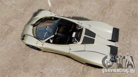 Pagani Zonda C12S Roadster 2001 v1.1 PJ1 для GTA 4 вид справа