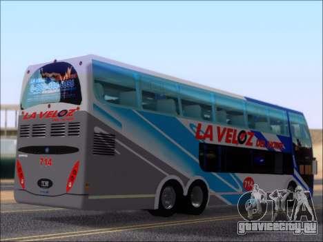 Metalsur Starbus DP 1 6x2 - La Veloz del Norte для GTA San Andreas вид справа