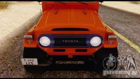 Toyota Land Cruiser (FJ40) 1978 для GTA San Andreas вид сбоку