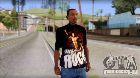 WWE The Rock T-Shirt для GTA San Andreas