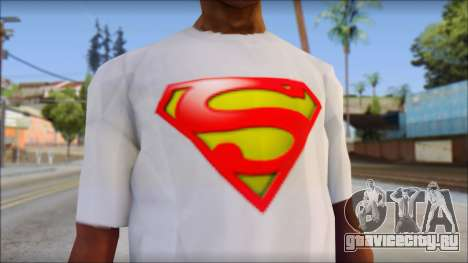 Superman T-Shirt для GTA San Andreas третий скриншот